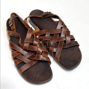 Timberland Woven Leather Smart Comfort Sandals